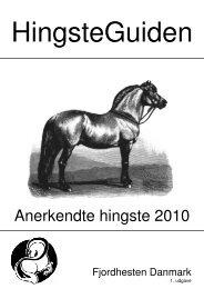 Anerkendte hingste 2010 - Fjordhesten Danmark