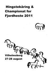 Dressur-championat for 6-årige og ældre heste - Fjordhesten Danmark