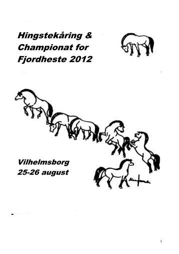 Katalog hingstek.+championat - Fjordhesten Danmark