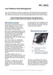 Lean Software Asset Management - Secorigo