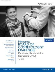 BOARD OF COSMETOLOGIST EXAMINERS - Pearson VUE