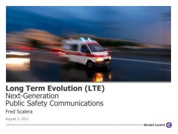 Next-Generation Public Safety Communications