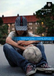 Teenagere i familiepleje - set fra anbragte unge og plejeforældres ...