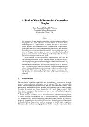 A Study of Graph Spectra for Comparing Graphs