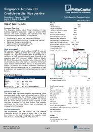Singapore Airlines Ltd - Phillip Securities Pte Ltd