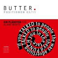 POSITIONEN 03/11 - Butter