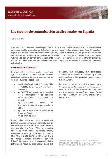 Los medios de comunicación audiovisuales en España - Prisa Digital