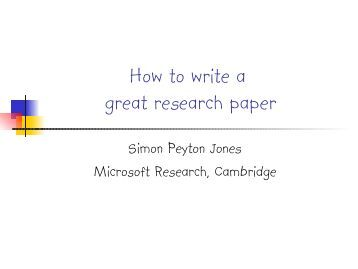 Microsoft research papers