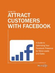 ATTRACT CUSTOMERS WITH FACEBOOK - Nextline Media