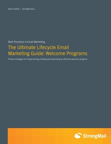 The Ultimate Lifecycle Email Marketing Guide ... - Prisa Digital