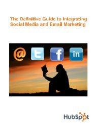 The Definitive Guide to Integrating Social Media and ... - Prisa Digital