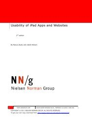 Usability of iPad Apps and Websites - Prisa Digital