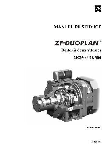 MANUEL DE SERVICE Boîtes à deux vitesses 2K250 / 2K300