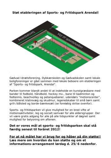 Støt etableringen af Sports- og Fritidspark Arendal! - Dybkærskolen ...