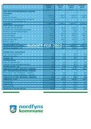 BUDGET FOR 2010 - Nordfyns Kommune