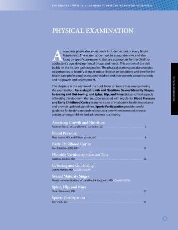 PHYSICAL EXAMINATION - Bright Futures - American Academy of ...