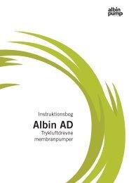 Instruktionsbog Albin AD på dansk - PFI Flowteknik
