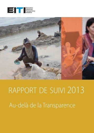 rapport de suivi - EITI