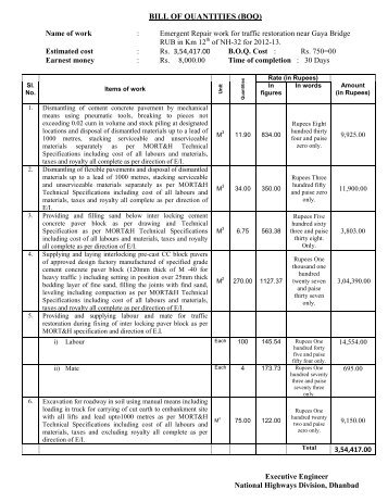 Bill of quantity for the work of construction of two room laboratory bill of quantity information public relations department altavistaventures Choice Image