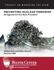 Preventing Nuclear Terrorism: An Agenda for the Next President