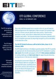 The 4th EITI Global Conference will be held in Doha, Qatar 16-18 ...