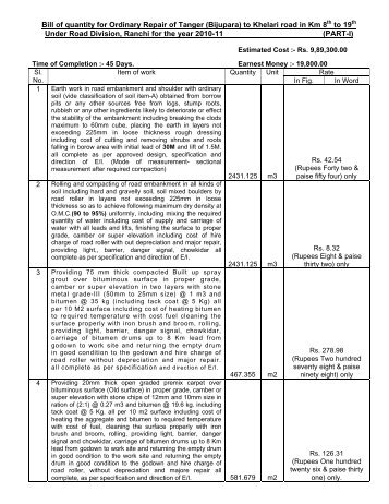 Bill of quantity of painting of boundary wall of airport hinoo bill of quantity for ordinary repair of tanger bijupara to khelari thecheapjerseys Choice Image