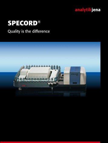 SPECORD® - Analytik Jena AG