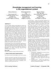 Knowledge management and learning in the organizational - HAL