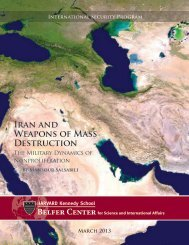 Iran and Weapons of Mass Destruction - Belfer Center for Science ...