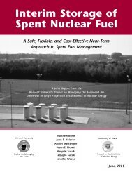 Interim Storage of Spent Nuclear Fuel - Woods Hole Research Center