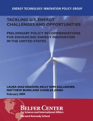 Tackling U.S. Energy Report.indd - Belfer Center for Science and ...