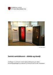 Samisk samtidskunst - Den kulturelle skolesekken Hordaland