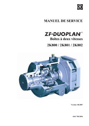MANUEL DE SERVICE Boîtes à deux vitesses 2K800 / 2K801 / 2K802