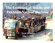 The Evolution of Indian and Pakistani Nuclear Doctrine