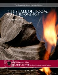 The Shale Oil Boom - Belfer Center for Science and International ...