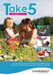 Spring 2011 Issue 15 - Lincolnshire Family Services Directory ...