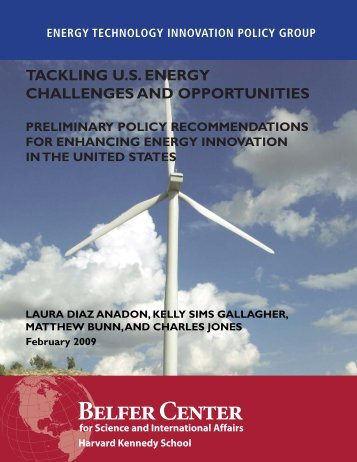 Tackling U.S. Energy Challenges and Opportunities - Belfer Center ...