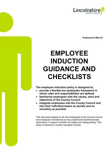 Employee Induction Guidance and Checklists