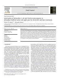 Inactivation of Salmonella, E. coli and Listeria monocytogenes in ...