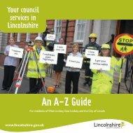 Adobe PDF - A-Z of Council services in Lincolnshire - North