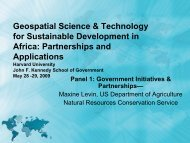 Geospatial Science & Technology for Sustainable Development in ...