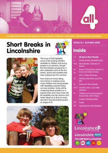 Autumn 2010 - Lincolnshire Family Services Directory - Lincolnshire ...