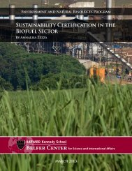 Sustainability Certification in the Biofuel Sector - Belfer Center for ...