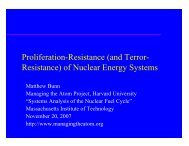 Proliferation-Resistance - Belfer Center for Science and ...