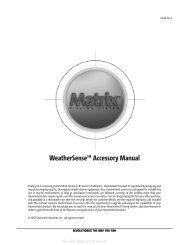 WeatherSenseTM Accessory Manual - Busse Yachtshop