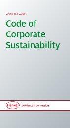 Code of Corporate Sustainability - Henkel