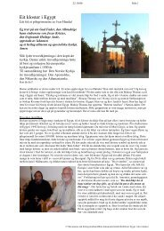 Et kloster i Egypt - Bergen Egypt Exploration Society