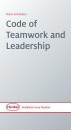 Code of Teamwork and Leadership (PDF) - Henkel