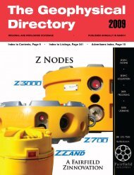 The Geophysical Directory