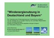 """Windenergienutzung in Deutschland und Bayern"""""""